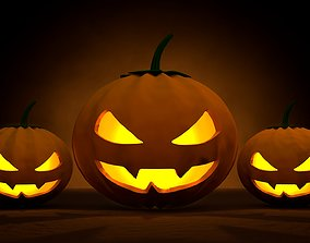 3D asset Halloween Lanterns