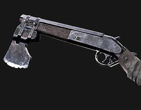 3D model Shotgun Axe Post Apocalyptic Game Ready Asset