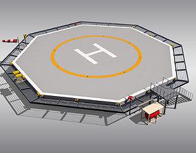 3D model Octagonal Heliport
