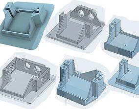 hobby 3D print model Servo Holder options