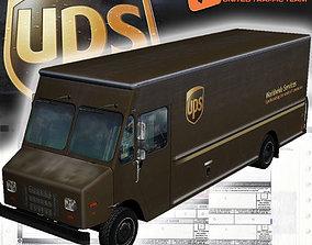 Morgan Olson Walk in van UPS 3D asset