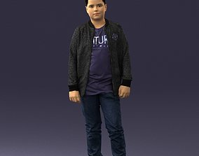 Boy in jeans and sweater 0471 3D Print Ready