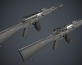 Low Poly AK 47 3D model