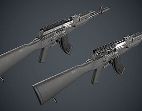 AK-47 low poly 3D model low-poly | CGTrader