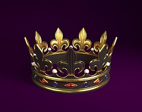 Crown beauty 3D model game-ready