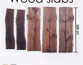 3D model Wood Slab Table wood