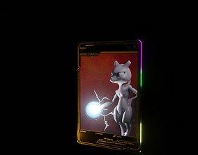 3D model animated pokemon card