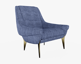 architectural 3D model Charles Ramos Armchair