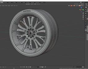 3D model wheel Barracuda Tzunamee
