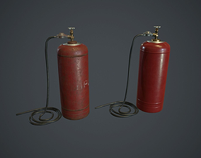 50 Liter Gas Cylinder With Hose PBR Game 3D asset