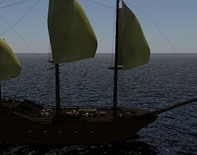3D model Colonial Ship
