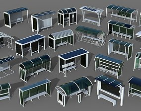 3D Bus Stops - 24 pieces