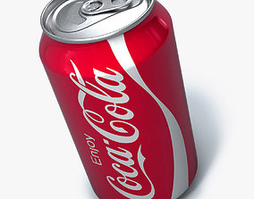 Realistic Coca cola can 3D model
