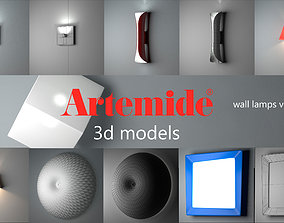 3D Artemide wall lamps collection vol 1