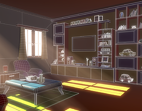 Asset - Cartoons - House - Livingroom 3D
