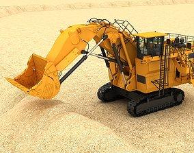 mining Mining Excavator 6060 3D model Rigging rigged