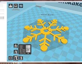 xmas-holiday 3D printable model Snowflake