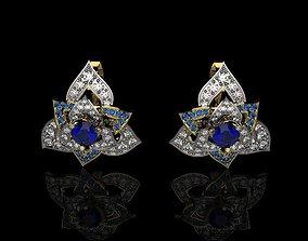 wealth 3D print model earrings J 005