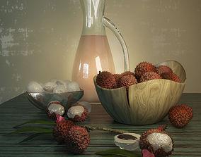 3D model composition of fruits