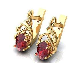3D model Earrings printable fashion jewelry