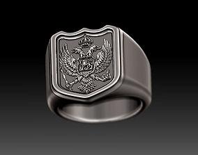 classic 3D signet ring