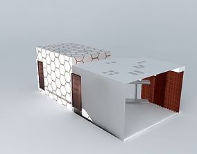 office cabinet for garments product 3D