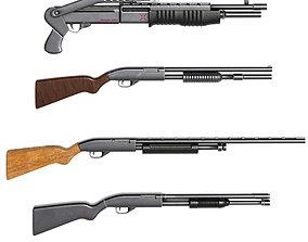 3D model shotgun pack