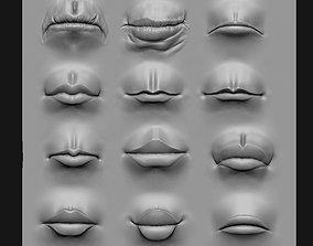 3D Lip Set 2 VDM Brush and Highpoly
