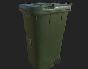 City Garbage Bin Small 3D asset
