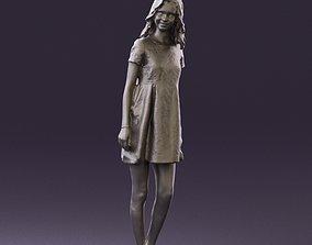 3dprint Girl in blacksilver dress 0848 3D Print Ready