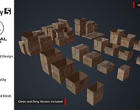 VR / AR ready Cardboard Boxes Pack AR VR Low Poly 3D 2