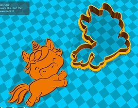 Stl file Unicorn cookie cutter for printing on 3D