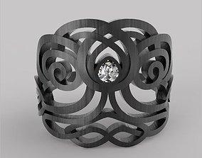 Celtic ring tree of life 3D print model