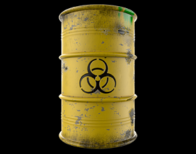 3D asset Atomic Waste Barrel