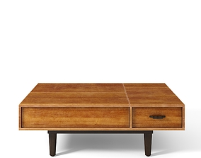 3D model LARS WEST ELM Mid Century coffee table with