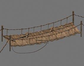 3D model Rope jungle Bridge
