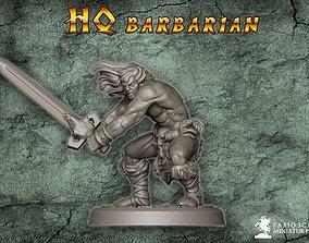 3D printable model Classic Barbarian