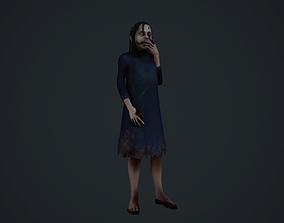 creepy girl horror GOred Version 3D model