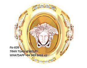 626 Luxury Diamond Versace Ring For Men 3D printable model