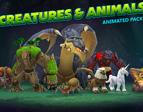 3D model Creatures and animals animated pack