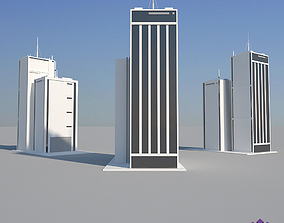 3D model Industrial Building 01