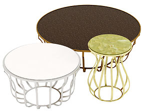 Baxter Jules Small Table 3D