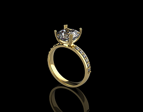 Ring Diamond gem 3D print model