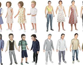 Family 16x models real cloth simulation conversation