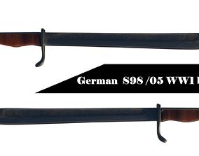 German WW1 bayonet 3D model