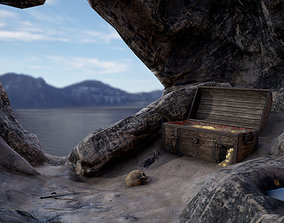 Pirate Treasure Environment 3D model