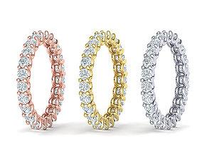 Diamond Eternity Ring 3d model many sizes marryme