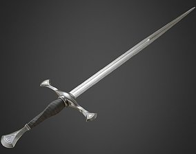 Medieval Long Sword 3D asset VR / AR ready