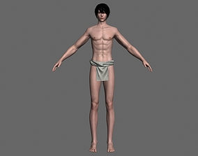 3D Asian Male Role Human body structure Basic model 1