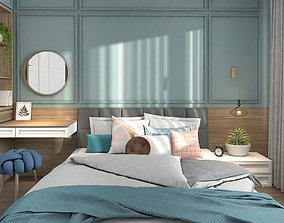 Full apartment interior pastel modern scandinavian 3D